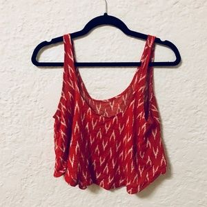 KIMCHI BLUE by Urban Outfitters Red Aztec Crop Top
